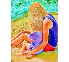 Hug on the Beach! Photographic Print