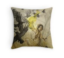 Field of Crows Throw Pillow