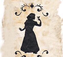 Snow White ink Silhouette by joshda88