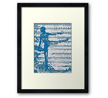 Blue Dance Framed Print