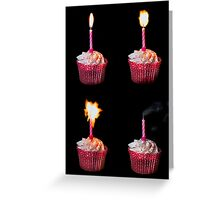 Happy Birthday cake and candles Greeting Card