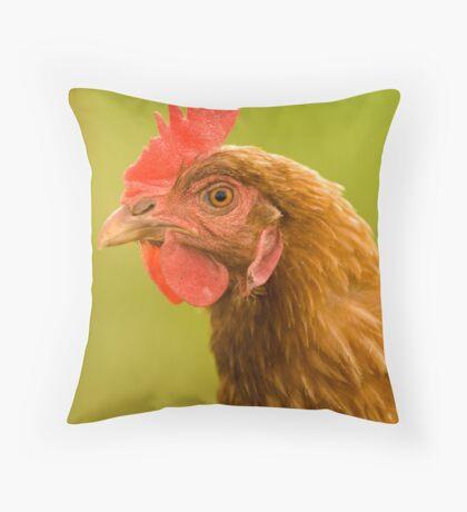 Chook on alert! Throw Pillow