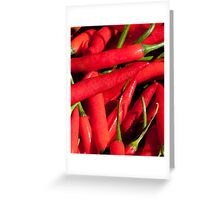Red chillies Greeting Card