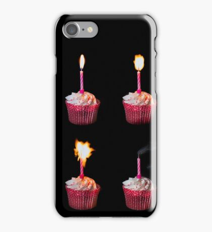Happy Birthday cake and candles iPhone Case/Skin