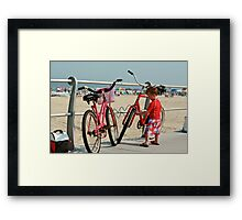 Red Bicycles  Framed Print