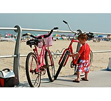 Red Bicycles  Photographic Print