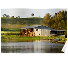 Hay Shed Watercolour Poster