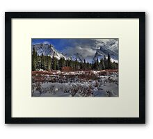 Elbow Pass valley X Framed Print