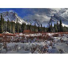 Elbow Pass valley X Photographic Print