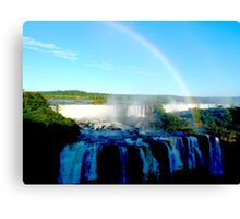 rainbow at Iguassu Falls Canvas Print