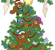 A Beary Merry Christmas ! by redqueenself