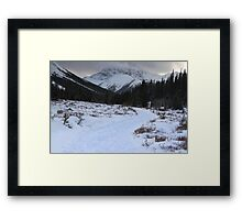 Elbow Pass valley XI Framed Print
