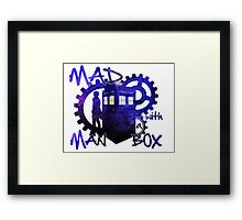 Dr Who - Mad Man with a Box Framed Print