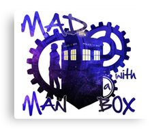 Dr Who - Mad Man with a Box Canvas Print