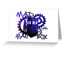 Dr Who - Mad Man with a Box Greeting Card