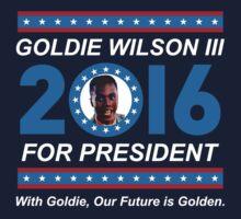 Goldie Wilson III for President 2016  Kids Tee