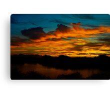 Sun Kissed Sky Canvas Print