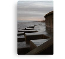 Sea defence wall 2 Canvas Print