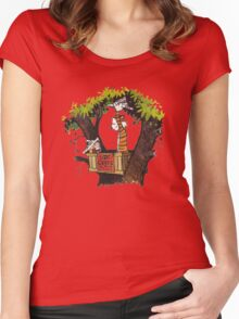 Calvin & Hobbes Women's Fitted Scoop T-Shirt