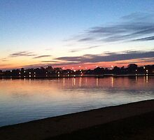 Poole Park at Dusk by Vanessa Saxby