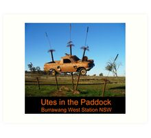 Utes in the paddock - cover Art Print