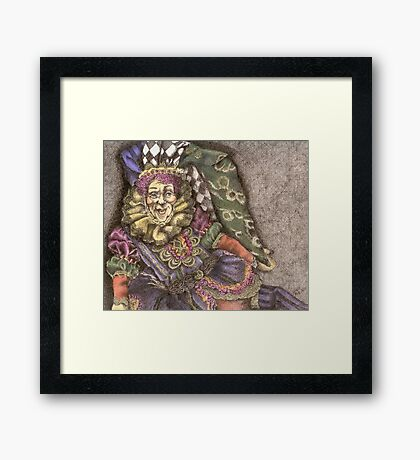 There ought to be clowns Framed Print