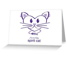 HeartKitty Spirit-Cat Greeting Card