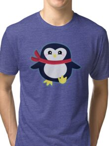 Kawaii Penguin Tri-blend T-Shirt