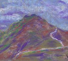 Storm Headed East (pastel) by Niki Hilsabeck