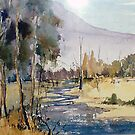 A lazy stream Qld Australia by Margaret Morgan (Watkins)