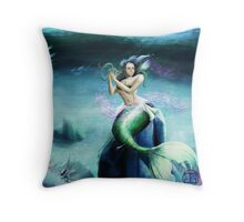 Mermaid in Tranquility Throw Pillow
