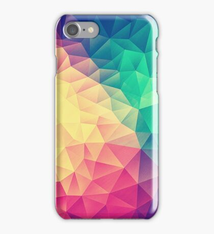 Abstract Polygon Multi Color Cubism Low Poly Triangle Design iPhone Case/Skin