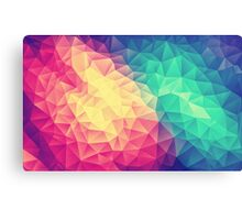 Abstract Polygon Multi Color Cubism Triangle Design Metal Print
