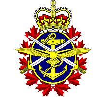 Canadian Forces (CF) Logo Photographic Print