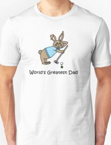 World's Greatest Dad Rabbit Golfer T-Shirt