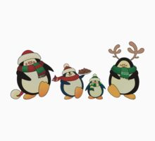 Penguin family greeting card Kids Clothes