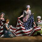 Americana - Flag - Birth of the American Flag 1915 by Mike  Savad