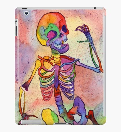 Rainbow Skeleton iPad Case/Skin