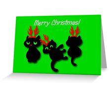 Santa's little helpers Christmas Card Greeting Card