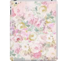 Chic retro pink white watercolor floral pattern iPad Case/Skin