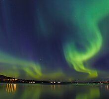 Northern Light in north Sweden by Ingvar Bjork Photography