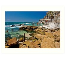 Bronte beach ocean pool Art Print