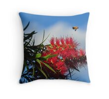 Bee on a mission Throw Pillow