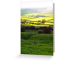 Autumn across the Vale of York Greeting Card