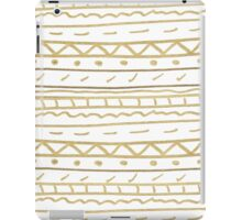 Chic white gold paint hand painted aztec iPad Case/Skin
