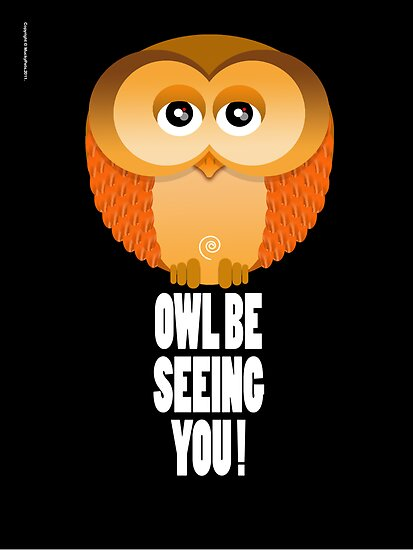 OWL BE SEEING YOU! by peter chebatte