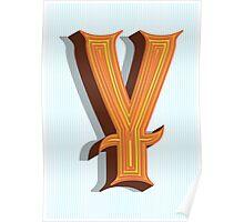 Letter Y Poster