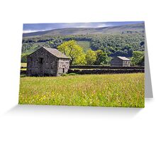 Summer Meadow, Wharfedale - The Yorkshire Dales Greeting Card