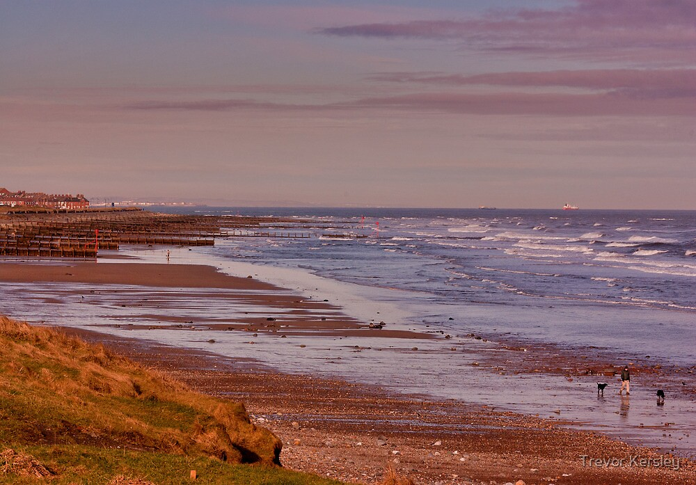 Redcar Beach by Trevor Kersley