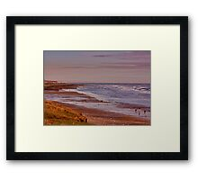 Redcar Beach Framed Print